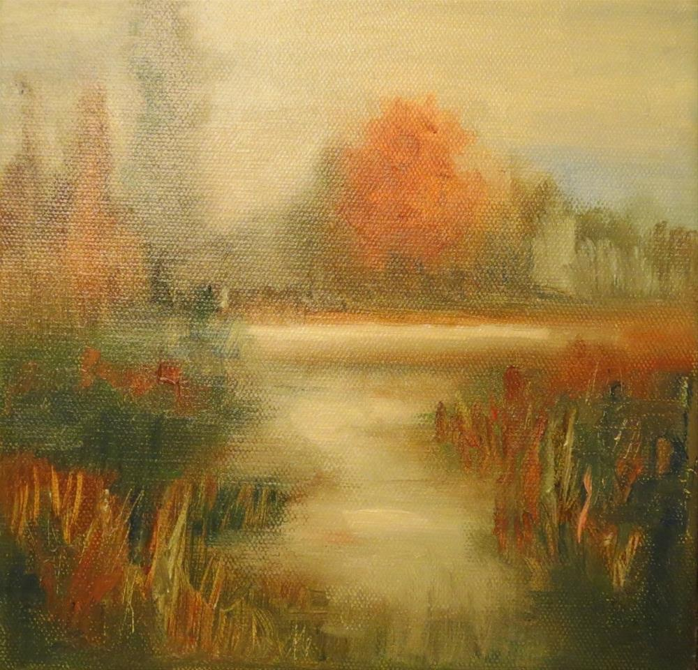 """Misty evening"" original fine art by Astrid Buchhammer"