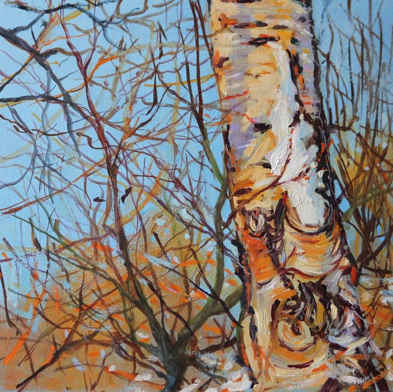 """""""Snow Birch"""" original fine art by Ken Devine"""