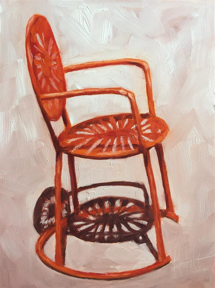 """Sunburst Chair"" original fine art by Hallie Kohn"