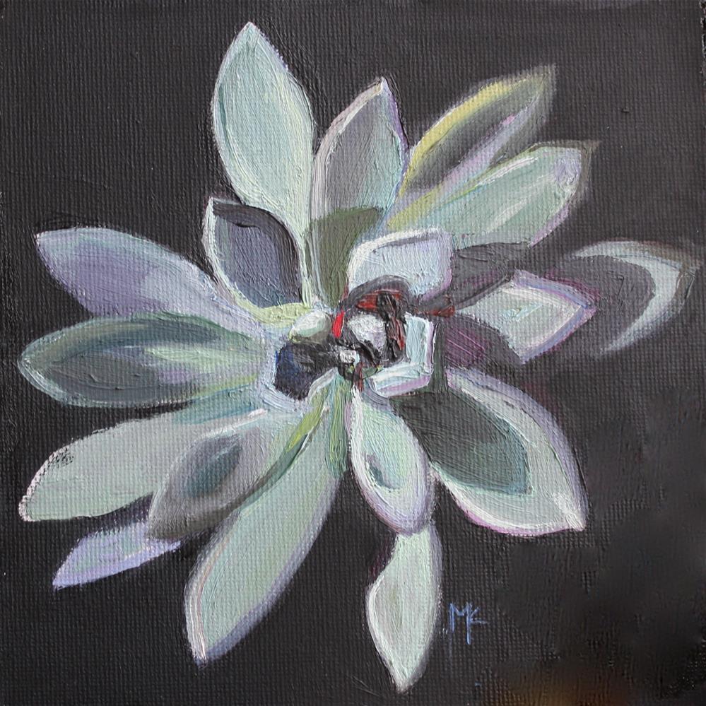 """""""Succulent- Graptoveria Opalina"""" original fine art by Susan McCullough"""