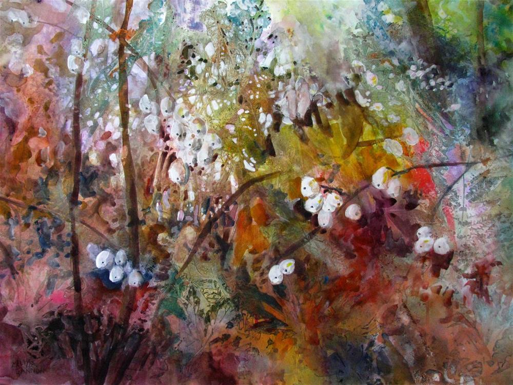 """Snowberry Potpourri"" original fine art by Melissa Gannon"