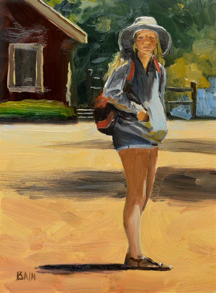 """""""Waiting on a Friend"""" original fine art by Peter Bain"""