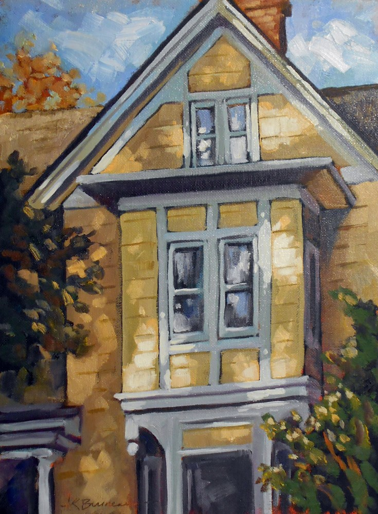 """Yellow Gable"" original fine art by Jeanne Bruneau"