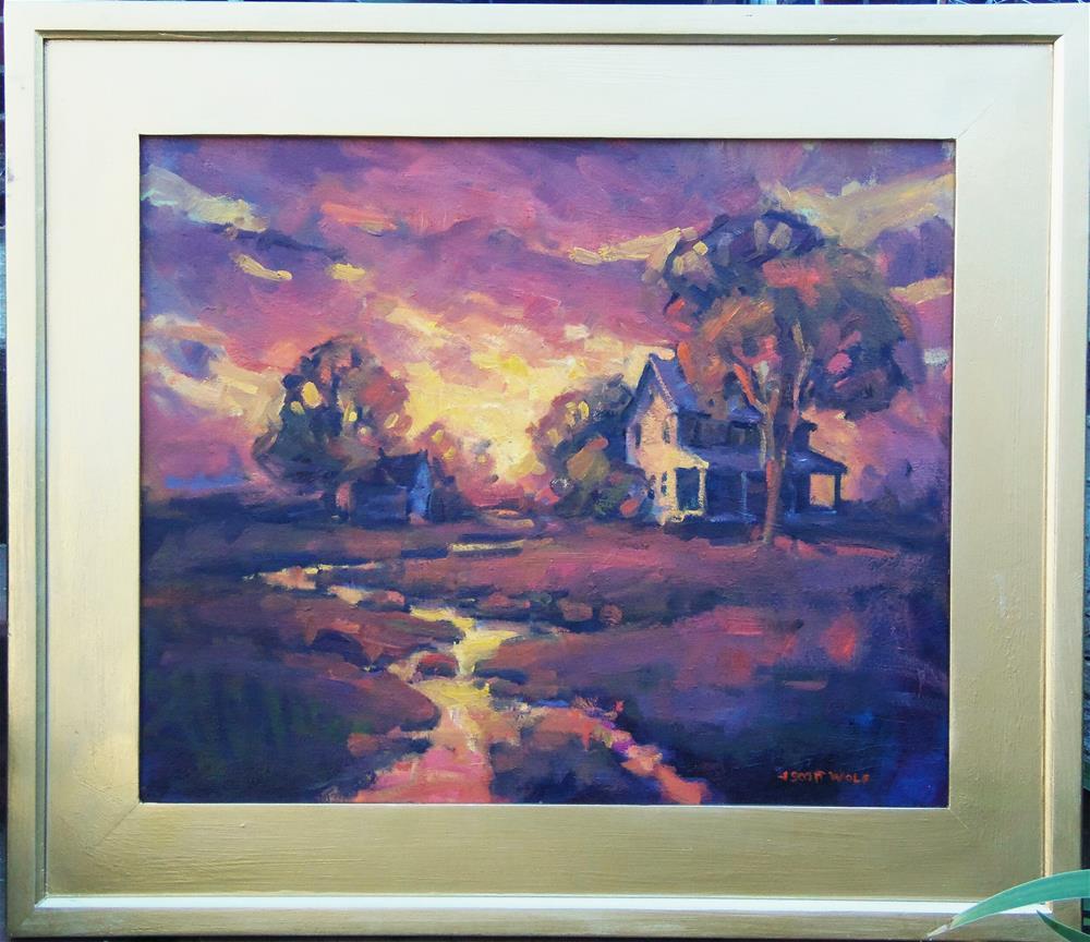 """Meadow Stream"" original fine art by J Scott Wolf"