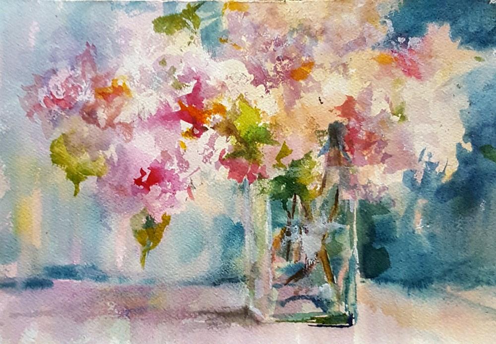 """""""Grandmother's Garden"""" original fine art by Sue Dion"""