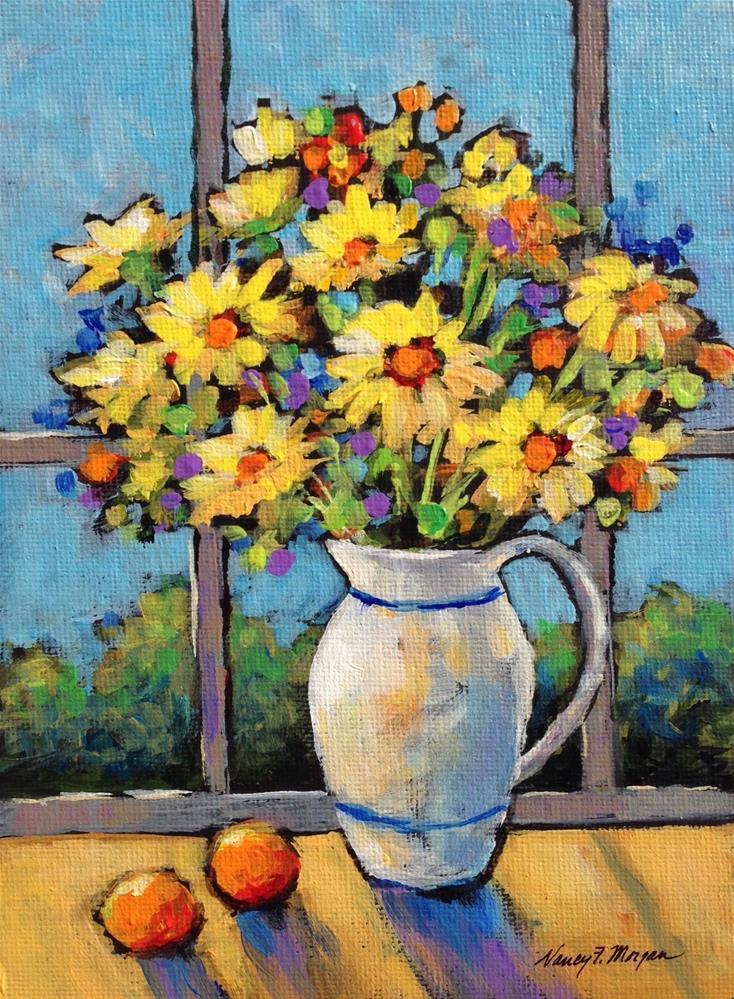 """""""Sunny Mix"""" original fine art by Nancy F. Morgan"""