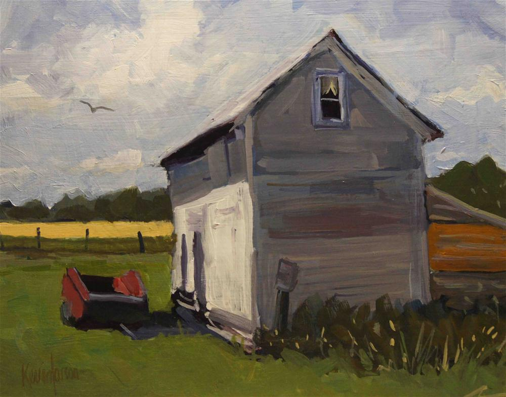 """Grainery at Noon"" original fine art by Kevin Larson"
