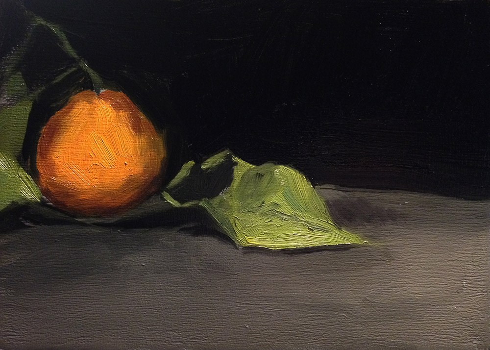 """Single Satsuma"" original fine art by Chris Beaven"