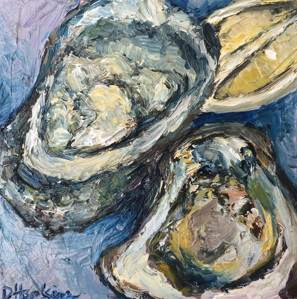 """Half Shell"" original fine art by Denise Hopkins"