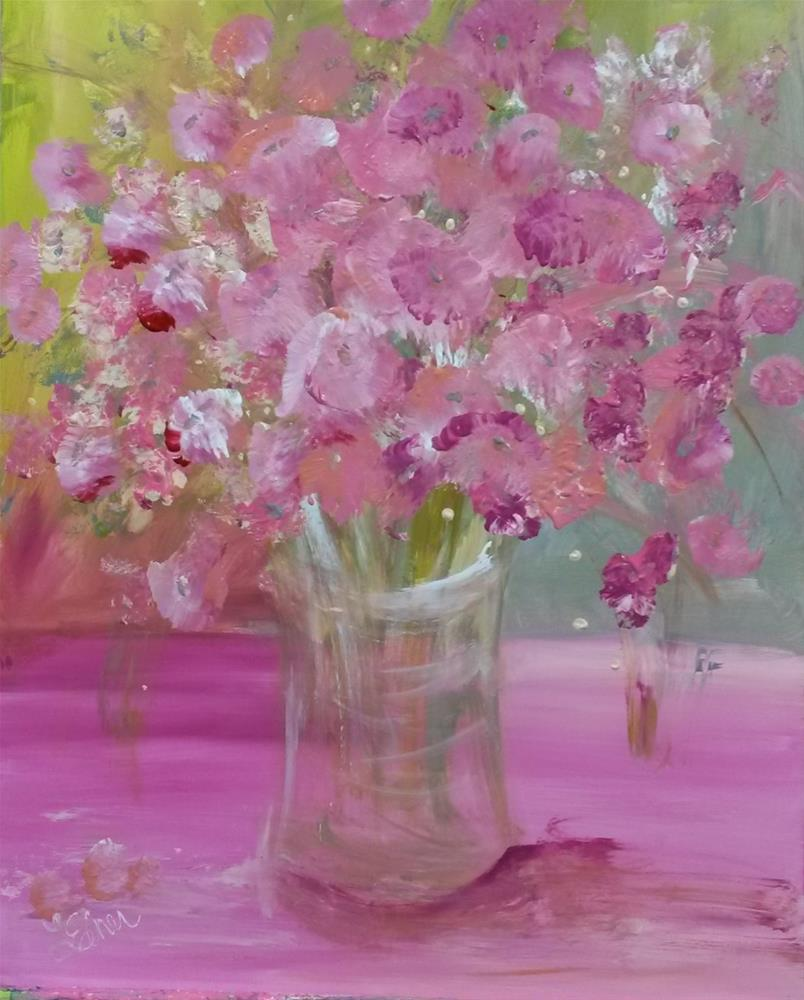 """Pink Explosion-Day 6"" original fine art by Terri Einer"