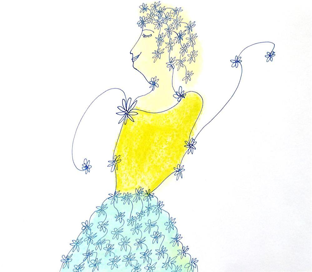 """""""Lady"""" original fine art by Adéla Svobodová"""