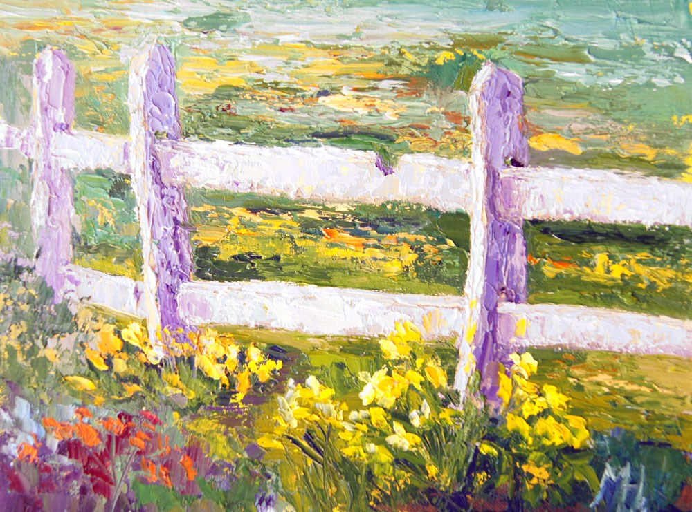 """A Host of Golden Daffodils"" original fine art by Marion Hedger"