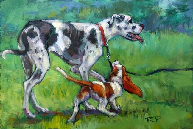 """""""Let's go"""" original fine art by Robin Peterson"""