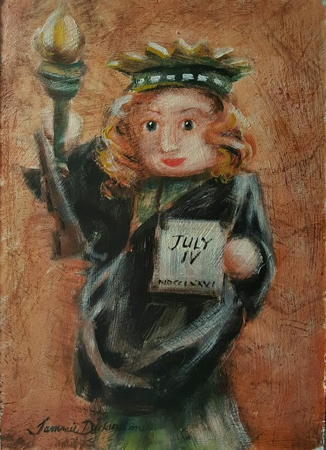 """Statue of Liberty Nutcracker"" original fine art by Tammie Dickerson"