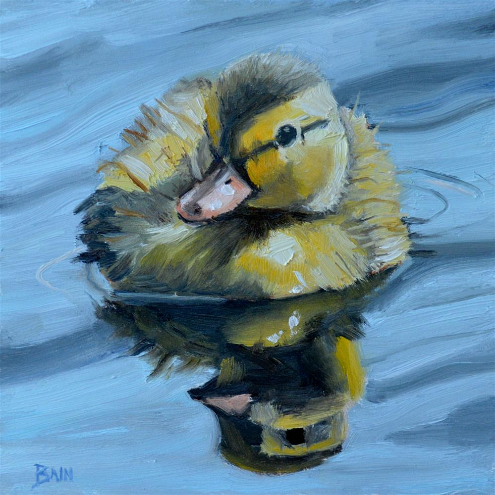 """Duckling no 2"" original fine art by Peter Bain"