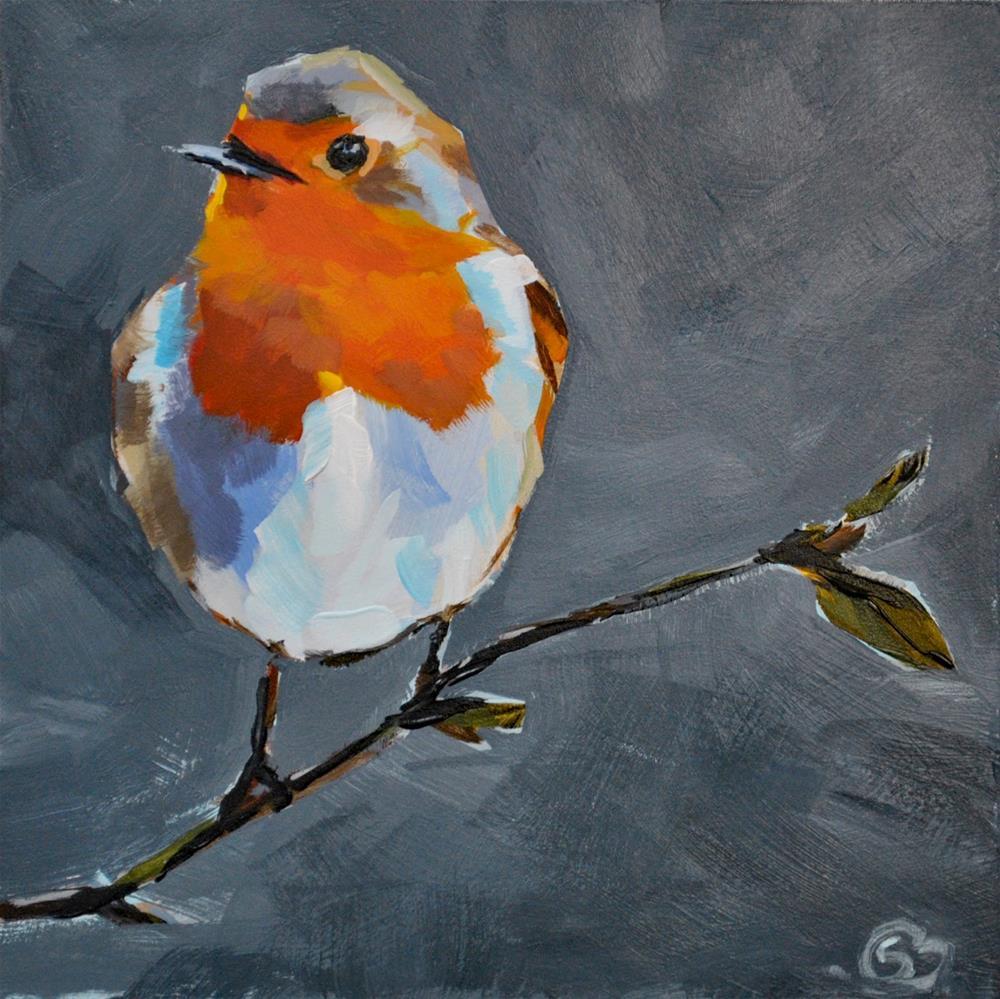 """""""Plump Little Robin"""" original fine art by Shari Buelt"""