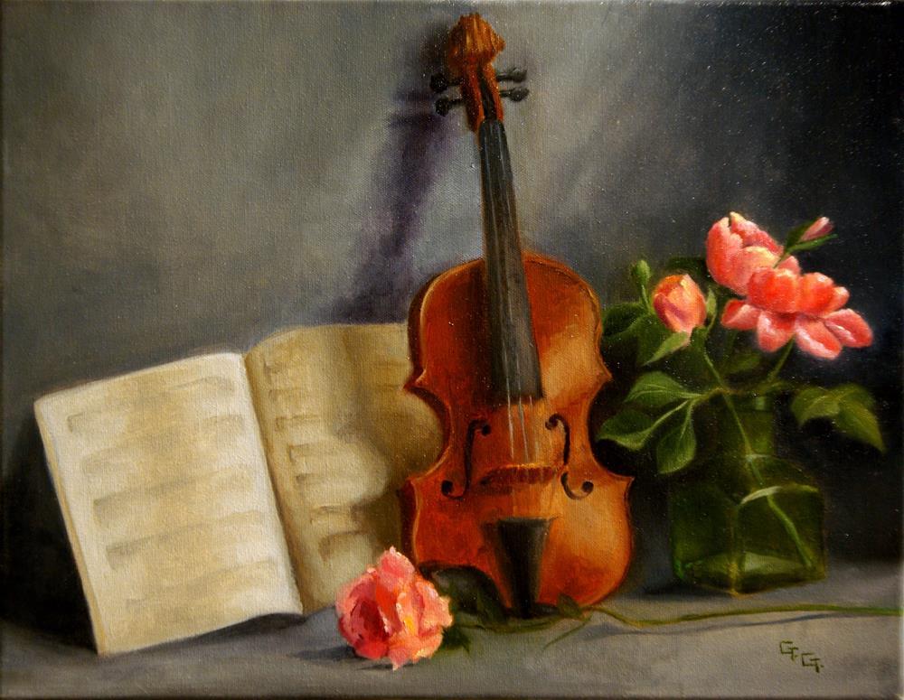 """""""The Violin"""" original fine art by G. G. Slockett"""