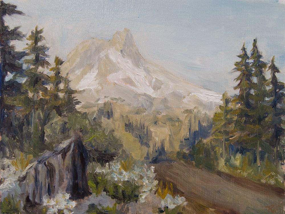 """Crest Pines"" original fine art by Rachel Steely"