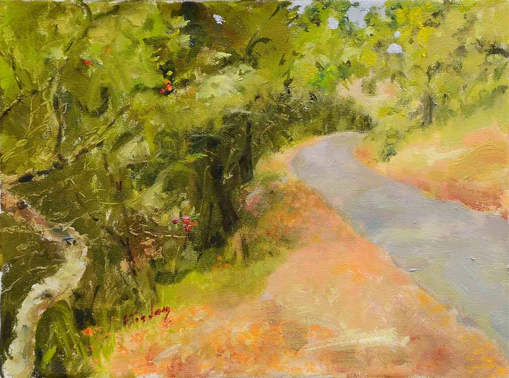 """Road Behind Benbow Inn"" original fine art by alicia tredway"