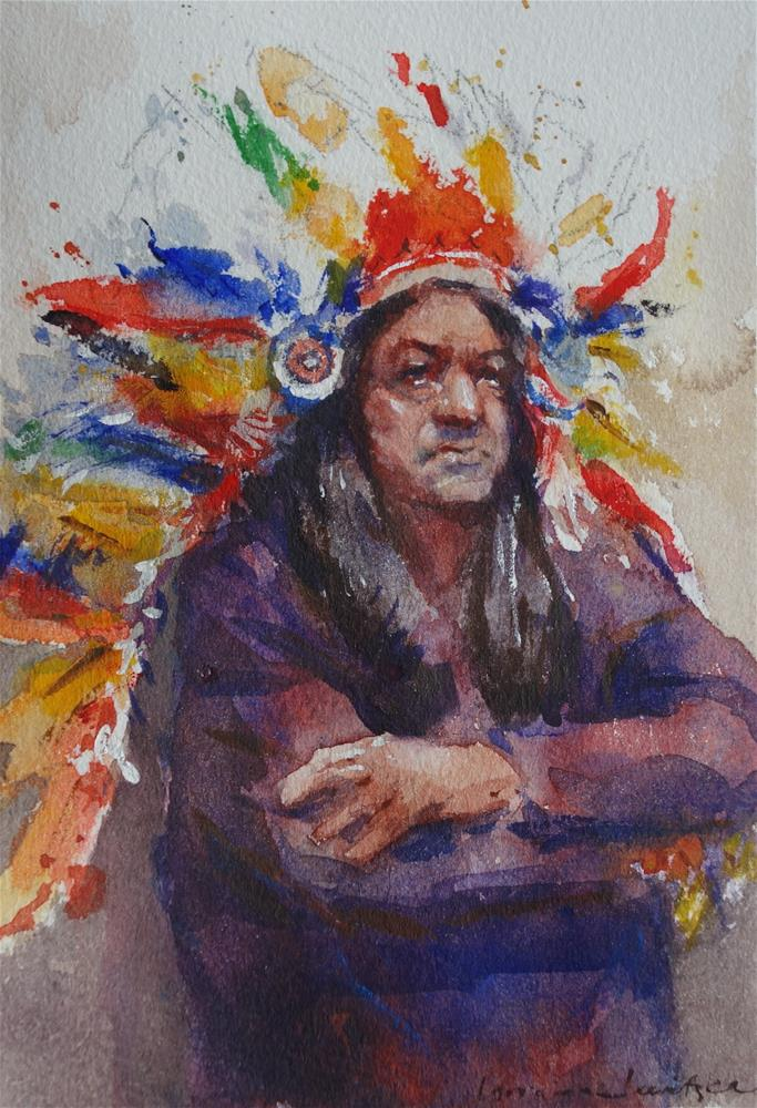 """""""Old Indian"""" original fine art by Lorraine Lewitzka"""