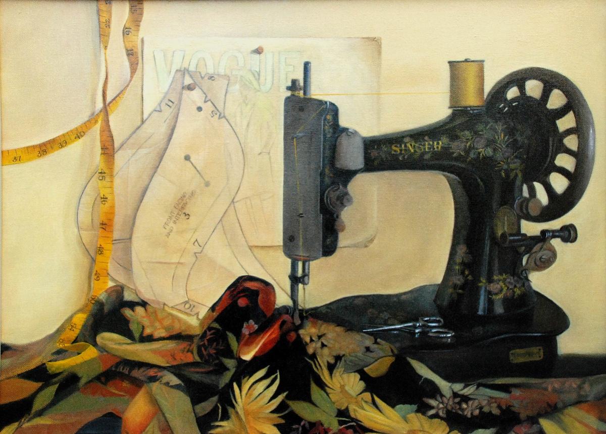 """The Singer"" original fine art by Patti Adams"