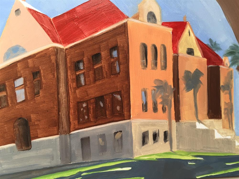 """150 Santa Ana Courthouse"" original fine art by Jenny Doh"