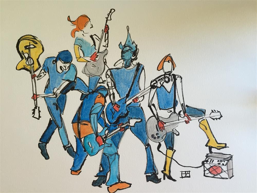 """""""guitar jam"""" original fine art by Arron McGuire"""