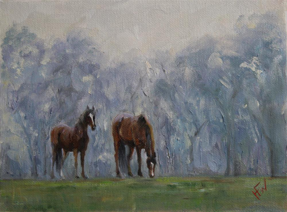 """Misty Pair"" original fine art by H.F. Wallen"