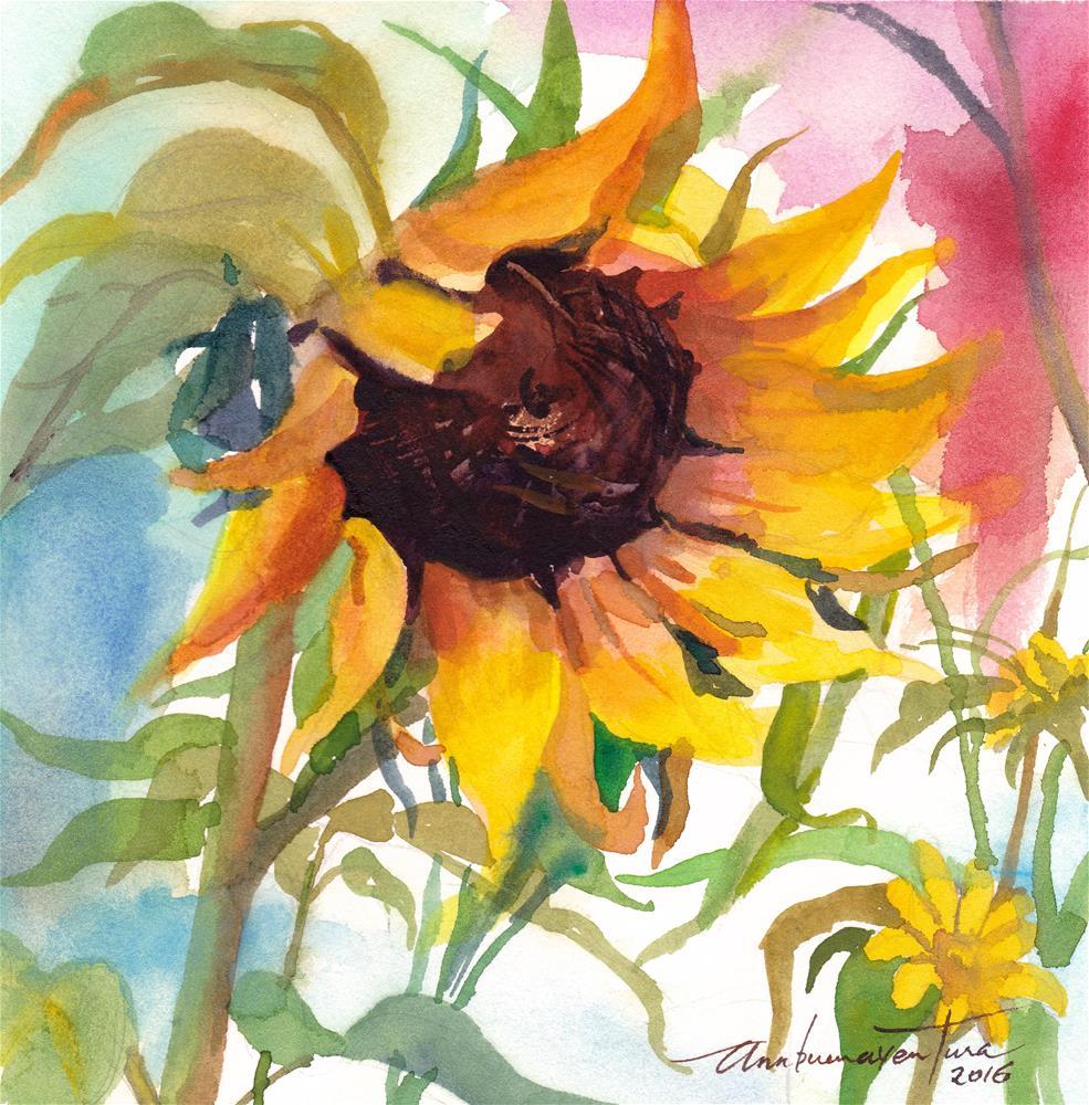 """Sunflower"" original fine art by Ann Buenaventura"