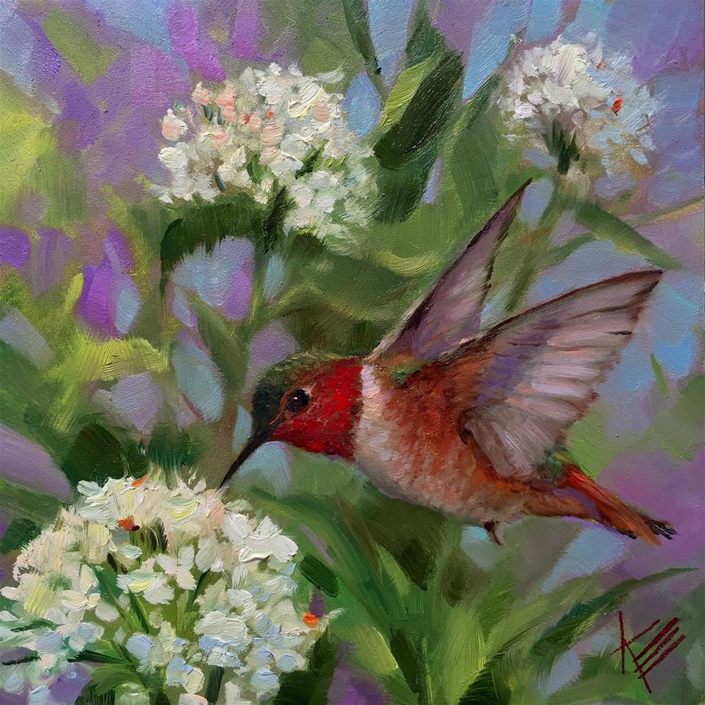 """Garden Friend"" original fine art by Krista Eaton"