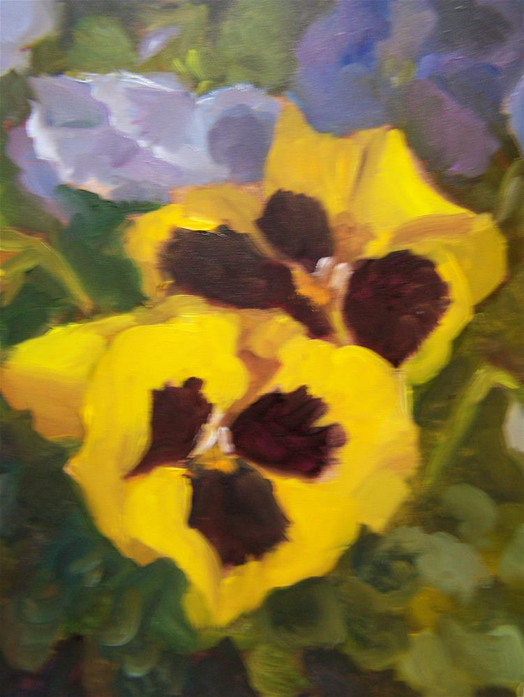 """Pansies"" original fine art by Joan Reive"