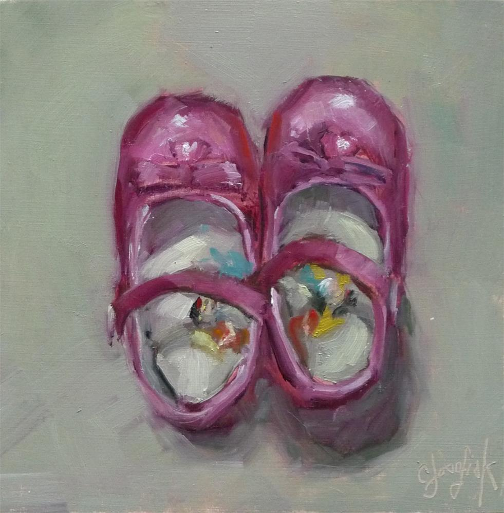 """Princess Shoes"" original fine art by Carol Josefiak"