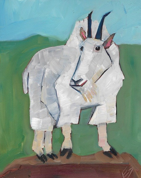 """Mountain Goat"" original fine art by Elizabeth See"