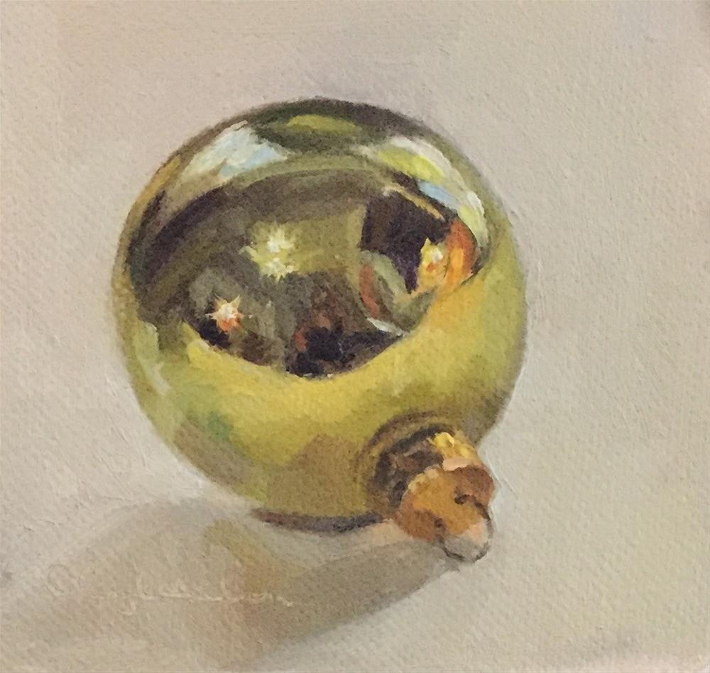 """Yellow Ornament"" original fine art by Cheryl Meehan"