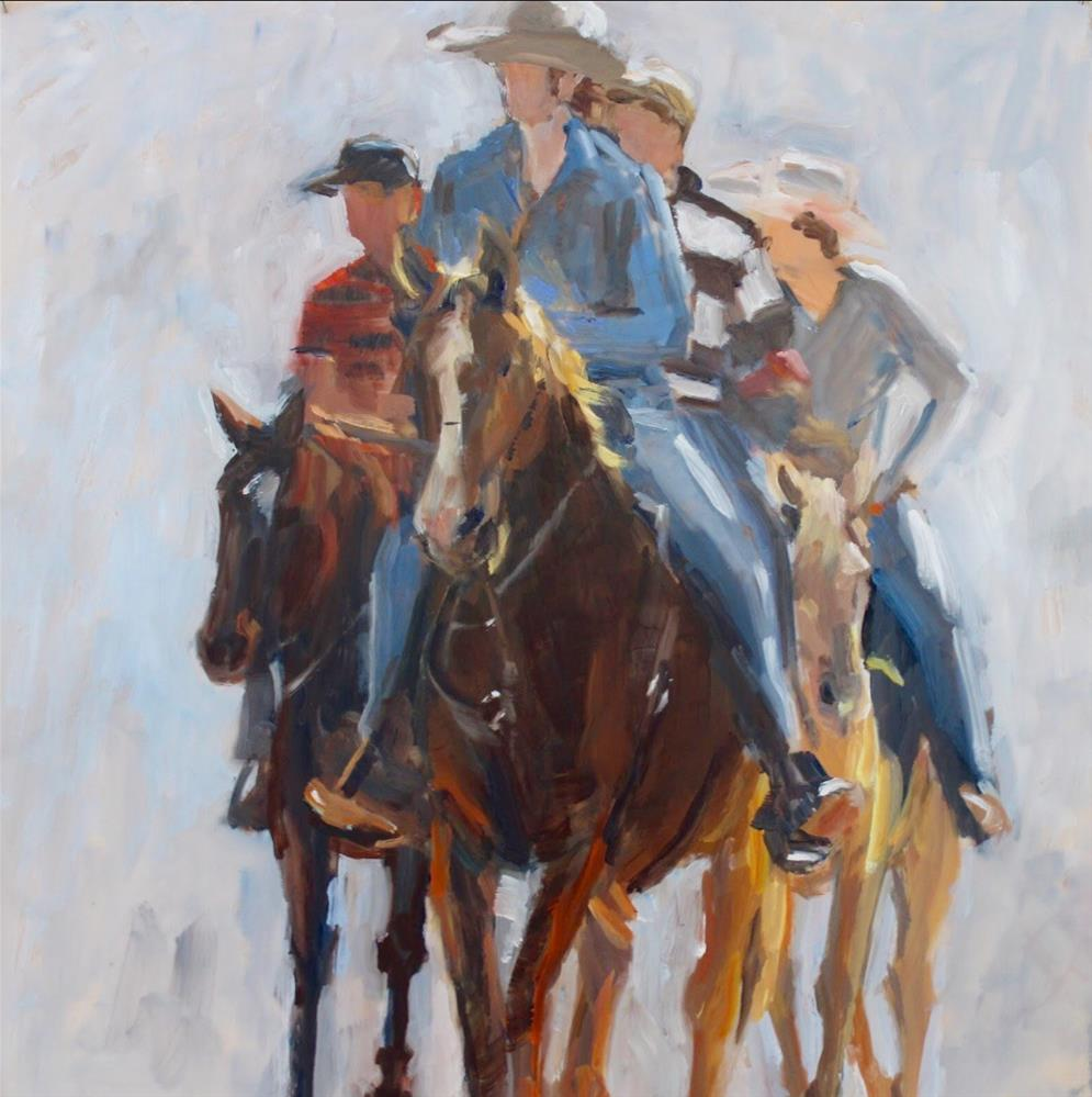 """The Posse"" original fine art by Wanda Lowery"