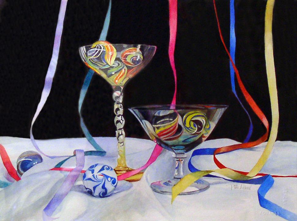 """Glass Dessert No. 3"" original fine art by Patti Adams"