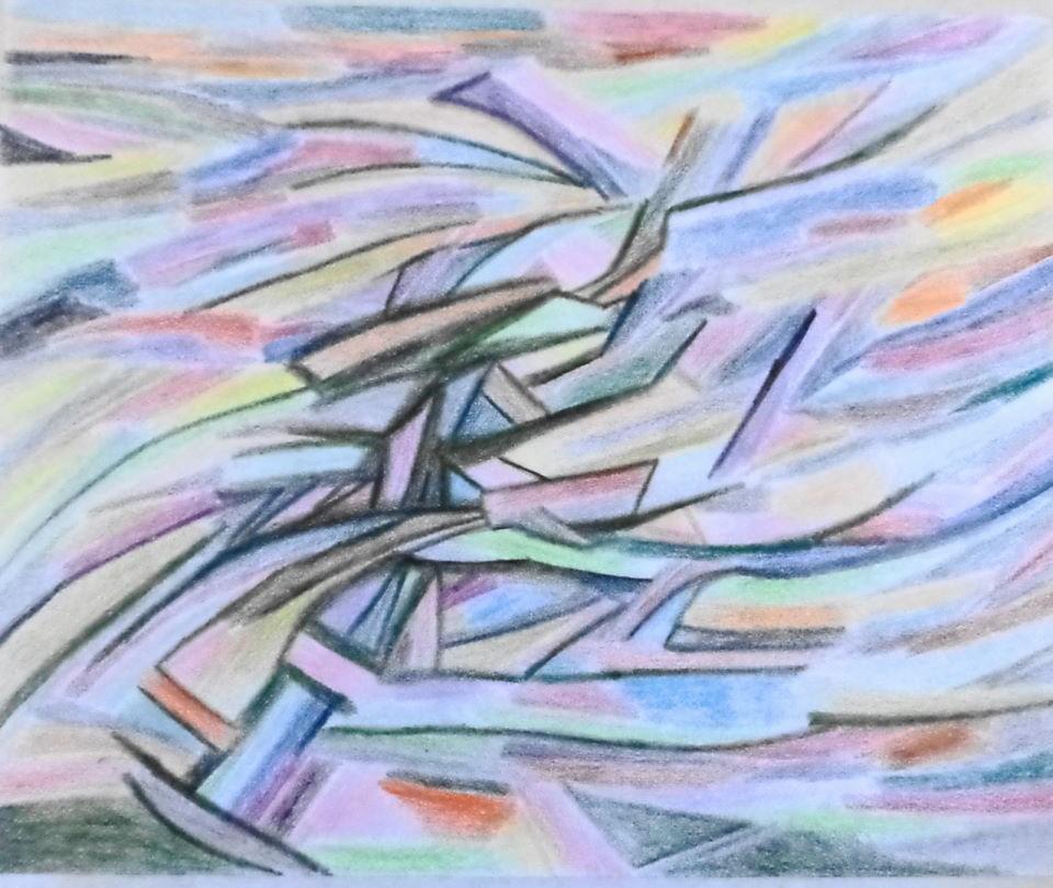 """""""Internal Conflict"""" original fine art by tara stephanos"""