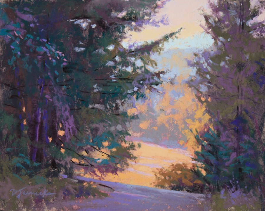 """Peeking into the Trees"" original fine art by Barbara Jaenicke"
