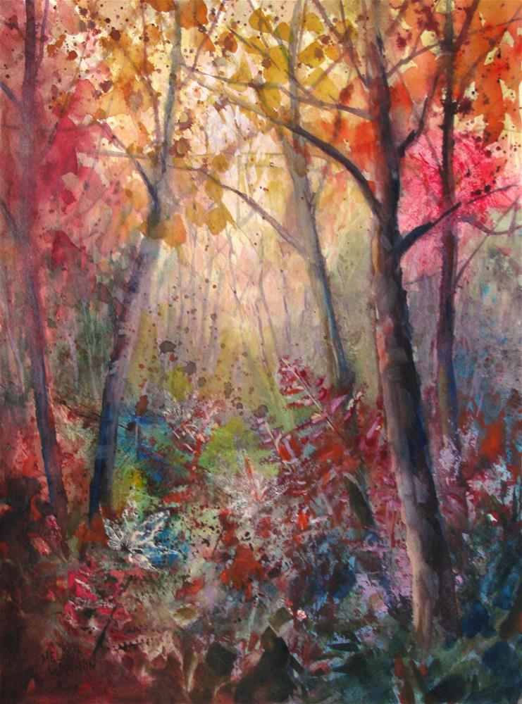 """A Glow in the Woods"" original fine art by Melissa Gannon"