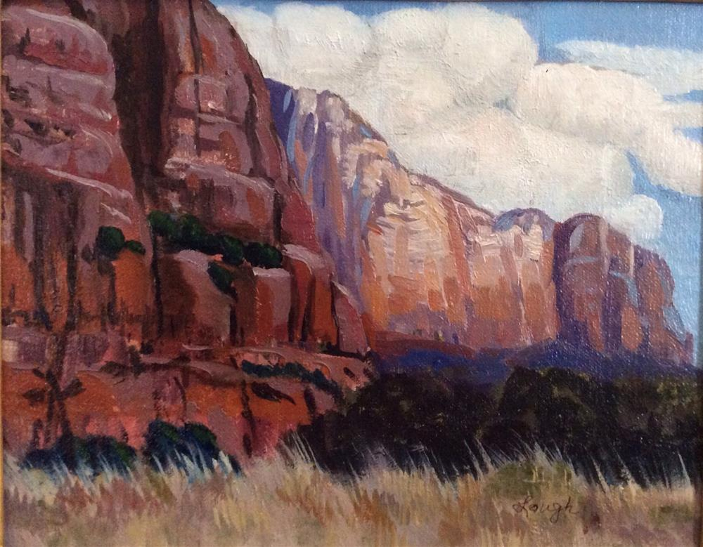 """Red Mesas of New Mexico"" original fine art by Charlotte Lough"