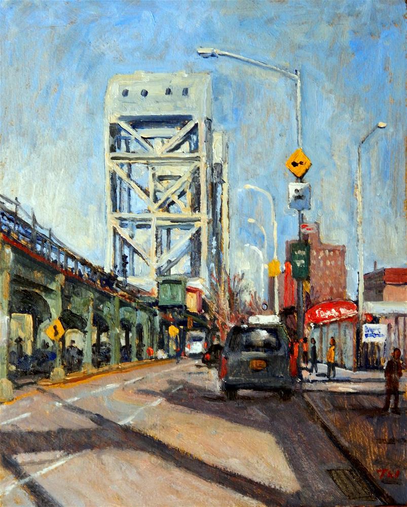 """Way Up Broadway, NYC"" original fine art by Thor Wickstrom"