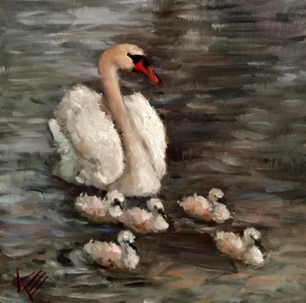 """Following Mamma"" original fine art by Krista Eaton"