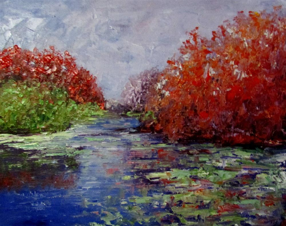 """""""8 x 10 inch oil Fall Color #1"""" original fine art by Linda Yurgensen"""