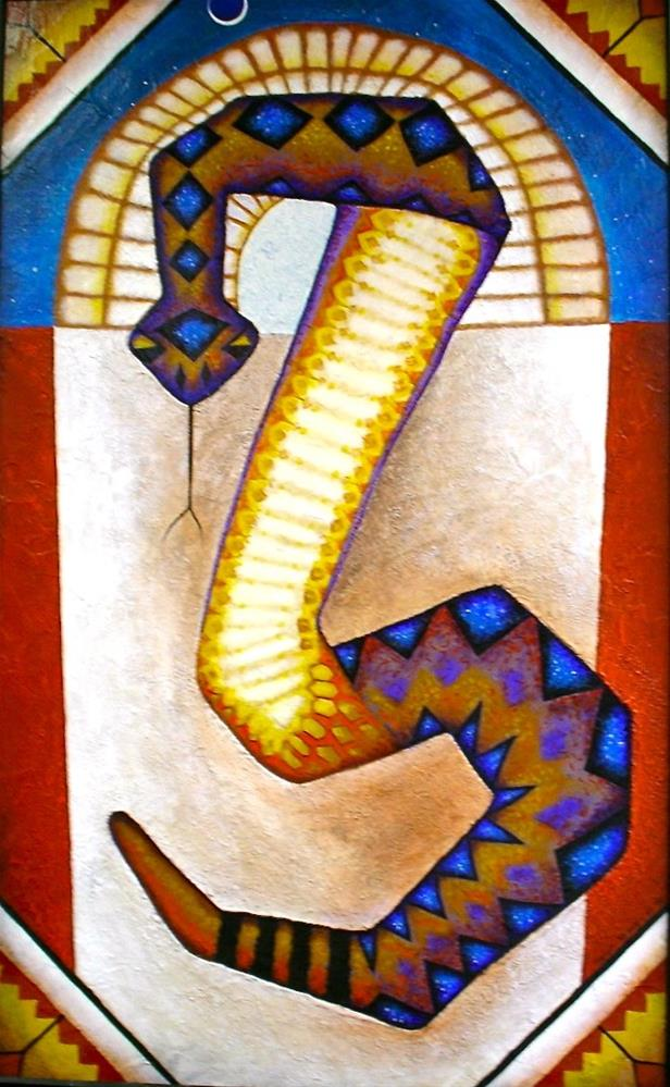 """Santo Serpiente"" original fine art by Karen Roncari"