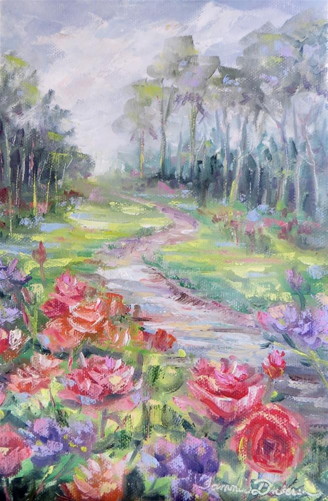 """Along the Rose Path"" original fine art by Tammie Dickerson"