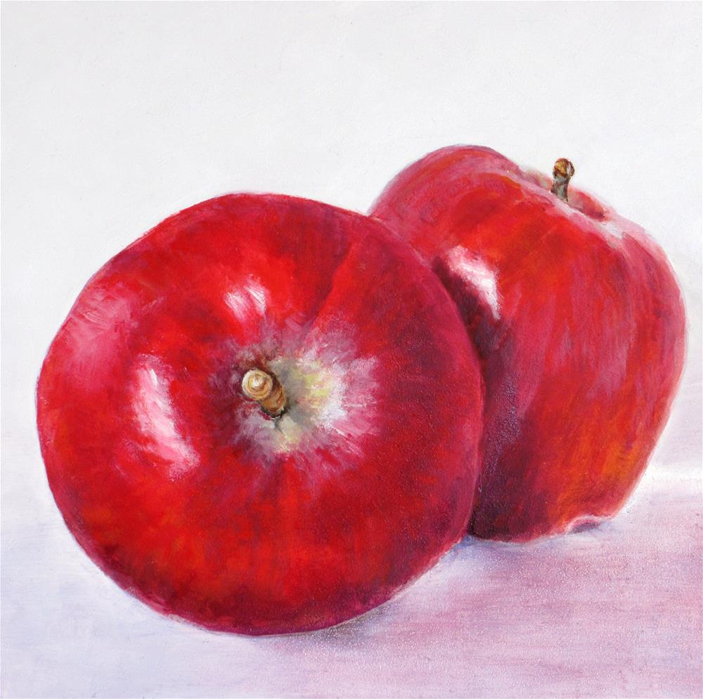 """Red Delicious Apples"" original fine art by Linda Demers"