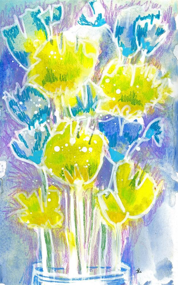 """Chartaqua - Blooms"" original fine art by Tonya Doughty"