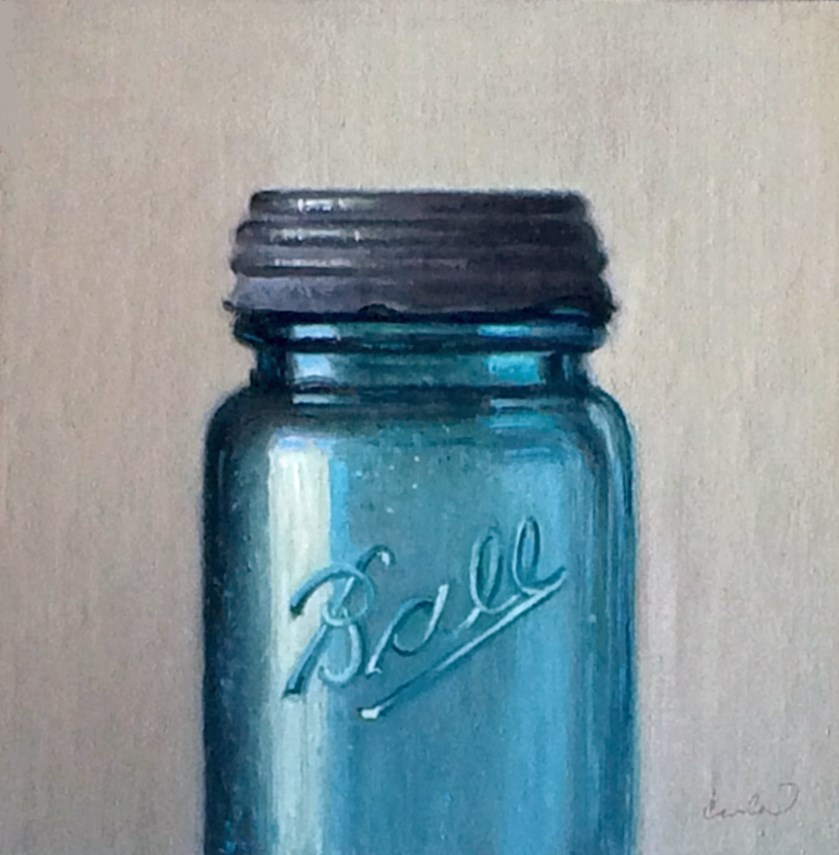 """Study in Blue"" original fine art by Darla McDowell"