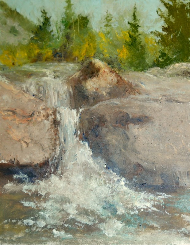 """A SYPHONY OF RUSHING WATER"" original fine art by Dorothy Redland"