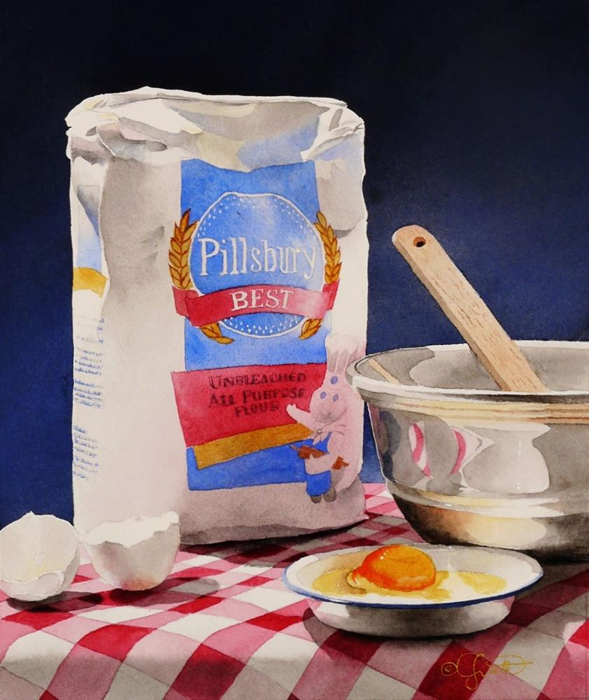 """Pillsbury's Best"" original fine art by Jacqueline Gnott, TWSA, WHS"